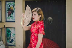 Woman chinese qipao Royalty Free Stock Photos