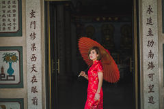 Woman chinese qipao Royalty Free Stock Images