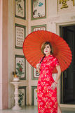 Woman chinese qipao Stock Image