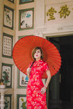Woman chinese qipao Royalty Free Stock Photo