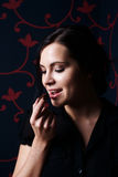 Woman with a chocolate Royalty Free Stock Photo