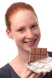 Woman with Chocolate Royalty Free Stock Images