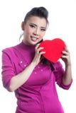 Woman with chocolate box Stock Image