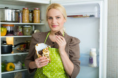 Woman with chocolate Stock Photography