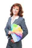 Woman choose color Stock Photo