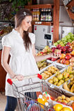 Woman choose food  in  supermarket Royalty Free Stock Images