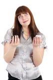 Woman chooses phone Royalty Free Stock Photo