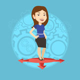 Woman choosing career way vector illustration. Stock Images