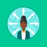 Woman choosing career way vector illustration. Stock Photo