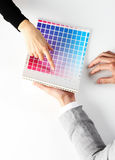 Woman Choosing color Royalty Free Stock Photos