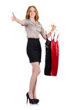Woman choosing the dress isolated Stock Photo