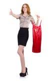 Woman choosing the dress Royalty Free Stock Photo