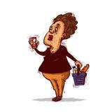 Woman choosing product Stock Photos