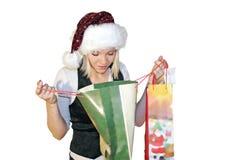 woman on christmas Royalty Free Stock Image