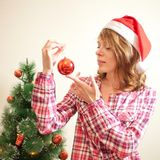 Woman in Christmas Stock Photos