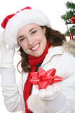Woman at Christmas Royalty Free Stock Photography