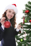 Woman at Christmas Royalty Free Stock Image