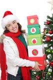 Woman at Christmas Royalty Free Stock Photo