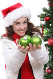 Woman at Christmas Stock Photos