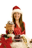 Woman christmas Royalty Free Stock Photo