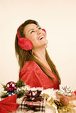Woman christmas Stock Photography