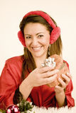 Woman christmas Stock Image