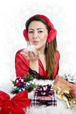 Woman christmas Royalty Free Stock Photography