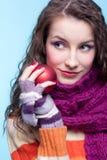 Woman with Christmas ball Stock Image