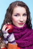 Woman with Christmas ball Stock Photos