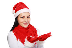 Woman in Christmas Stock Photo