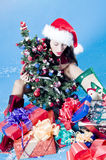 Woman with Christmas decor Stock Photography