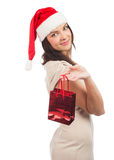 Woman with Christmas gift Stock Photography