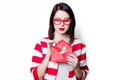 Woman with christmas gifts Stock Image