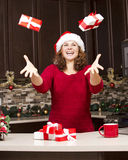 Woman during Christmas Royalty Free Stock Photos