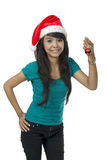 Woman And Christmas Ornament Royalty Free Stock Image