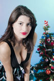 Woman at Christmas party  Stock Photo