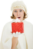 Woman with Christmas presents Royalty Free Stock Photography