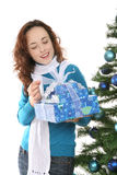 Woman with Christmas presents Royalty Free Stock Image