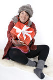 Woman with christmas presents Stock Photo