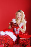 Woman with Christmas presents Stock Photography