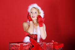Woman with Christmas presents Royalty Free Stock Images