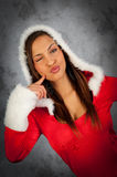 Woman in christmas time Stock Image