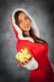 Woman in christmas time Royalty Free Stock Image