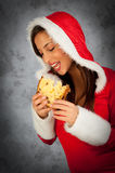 Woman in christmas time Stock Photos