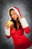 Woman in christmas time Stock Photo