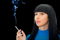 Woman with a cigarette Stock Photo
