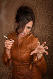 Woman with cigarette Royalty Free Stock Photography