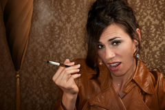 Woman with cigarette Royalty Free Stock Image