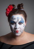 Woman with circus makeup. Stock Images