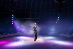 Woman in circus. Sexy young woman in circus Royalty Free Stock Photos